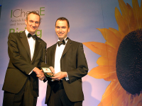 Receiving the Entec medal